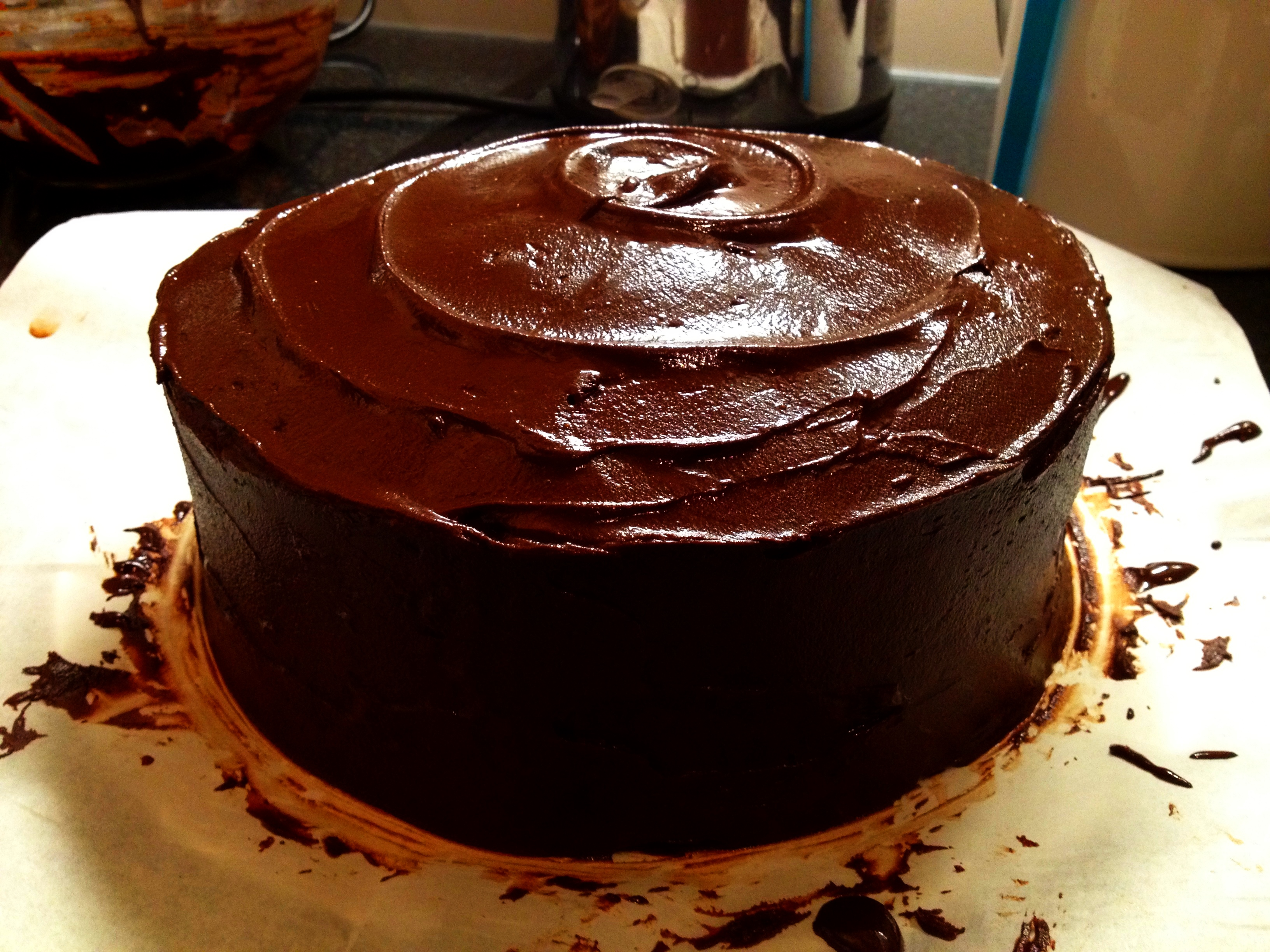 chocolate cake with chocolate cake with fudge chocolate fudge frosting ...