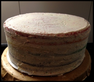 Buttercream layer.