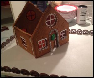 Gingerbread House phase 9 - moving into position