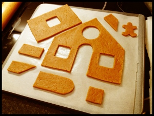 Gingerbread House - phase 1 (rolled and cut)
