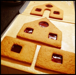 Gingerbread House - phase 3 (installation of stained glass windows)