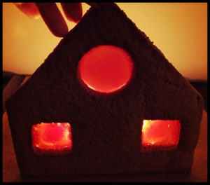 Gingerbread House - phase 4 (testing of stained glass windows)