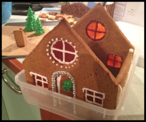 Gingerbread House phase 8 - construction begins