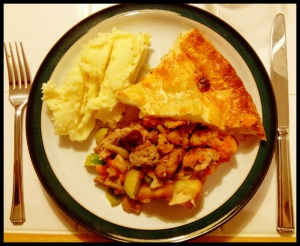 Christmas Pie, a modest portion