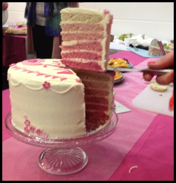 Pink Layer Cake.  Done.