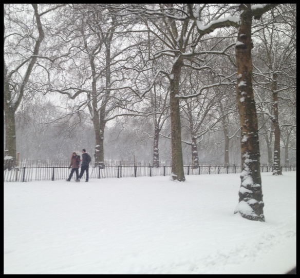 London in the Snow - a nice day for a white christening