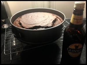 Guinness Cake - baked