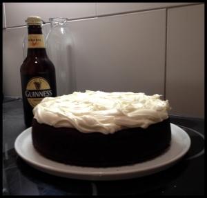 Guinness Cake - iced