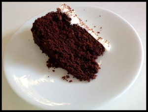 Guinness cake - sliced