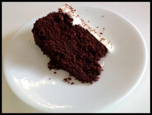 Guinness cake - sliced