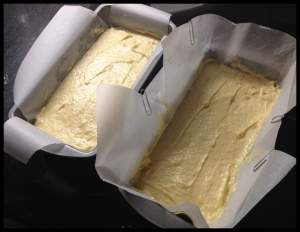 Lemon Drizzle Cake - oven ready