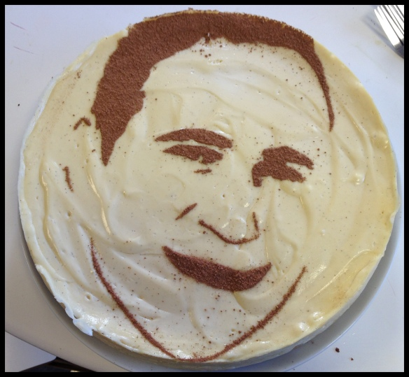 Pablo's Face Cake - in all its glory