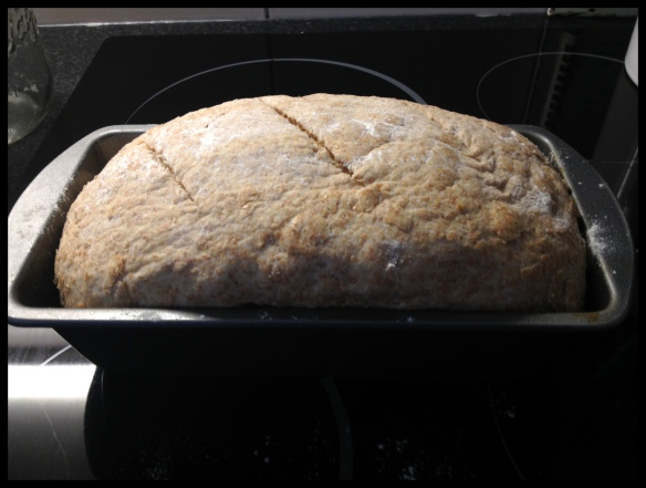 Wholemeal Bread - ready for the oven