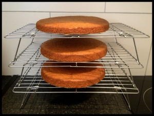 Carrot Cake - cooling