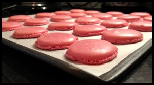 Pink Macaroons - feet!  They have feet!