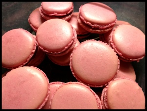 Pink Macaroons - sandwiched