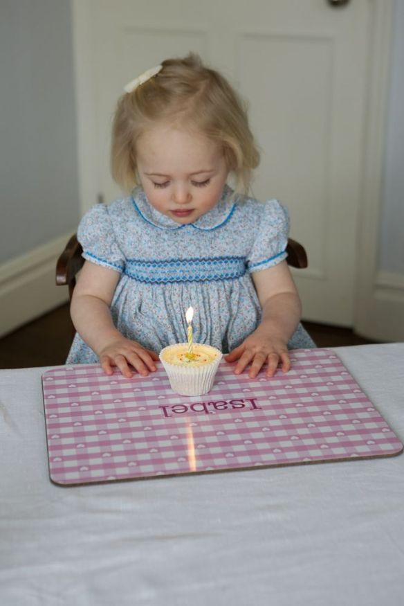Personalised Kiddiwinks placemat from Scarlett Willow