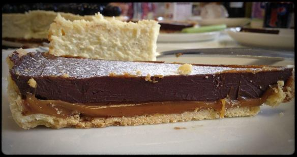 Salted Caramel Chocolate Tart Slice