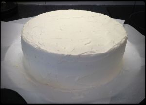 Base coat of buttercream