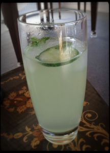 Gin, Cucumber, Mint and Lime Spritzer