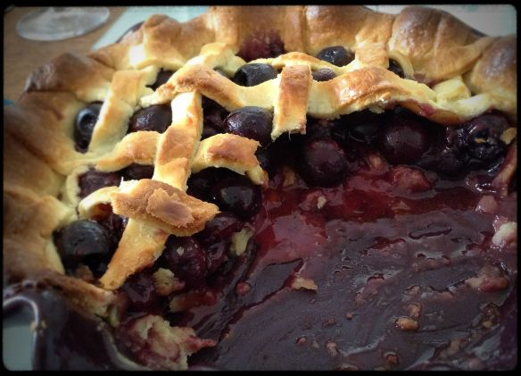 "Cherry pie - with ""slices"" taken out"