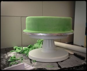 lovely green fondant