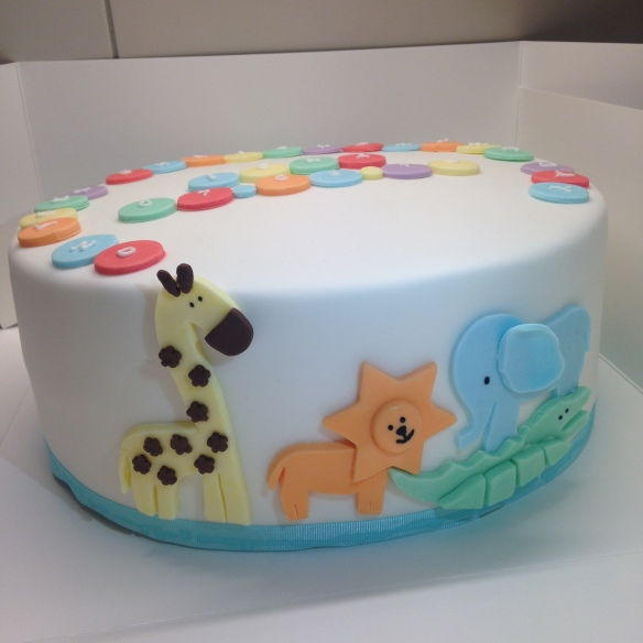 Safari Christening Cake (Chocolate Fudge)