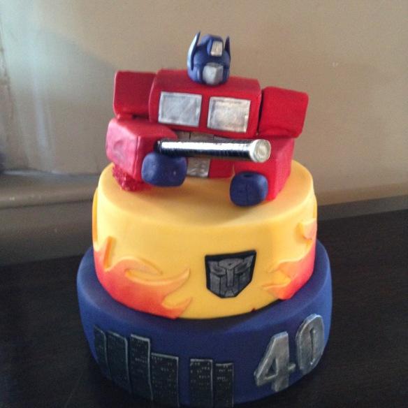 Transformers (Optimus Prime) Cake